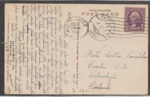 U.S. Scott #720 Postcard - Syracuse University to Finland - Feb 17, 38 See Front