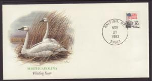 NC,Whistling Swan 1983 Fleetwood Cover BIN