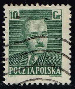 Poland #491 Pres. Boleslaw Bierut; Used (0.25)