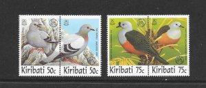 BIRDS - KIRIBATI #711-14  ASIA '97 OVERPRINT    MNH