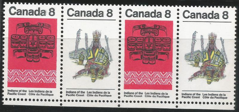 CANADA 572-73 MNH STRIP OF 4 [D4]