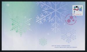 Canada 2124 on FDC Christmas, Snowman