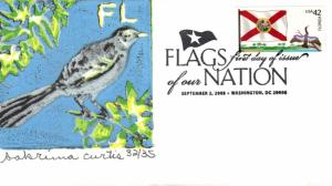 #4284 FOON: Florida Flag S Curtis FDC