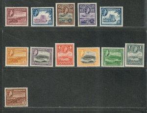Antigua Sc#107-118 M/NH/VF, Cv. $35.20