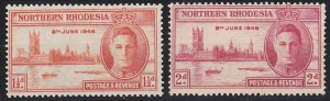 Northern Rhodesia 46-47 MNH (1946)