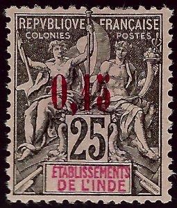 French India SC#22 Mint VF SCV$90.00..Fill a key spot!!