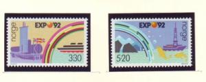 Norway Sc 1022-3 1992 Expo 92 Seville stamp set mint NH