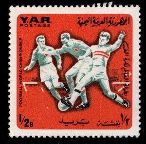 Yemen Scott 226D MH* 1966 Soccer stamp