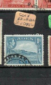 ADEN  (PP1106BB) KGVI  1 A SG 18   KAMARAN CDS   VFU