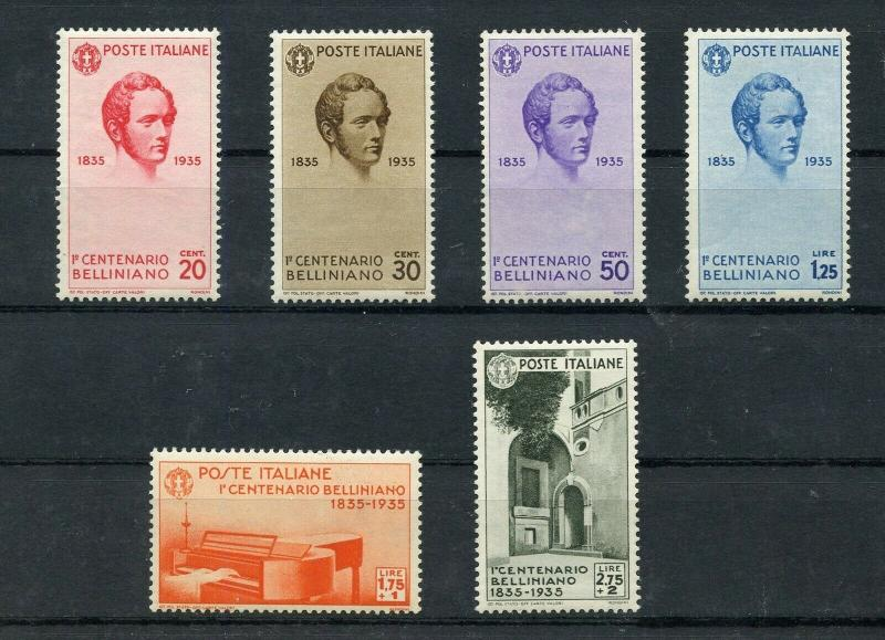 ITALY BELLINI  SCOTT#349/54  MINT NEVER HINGED