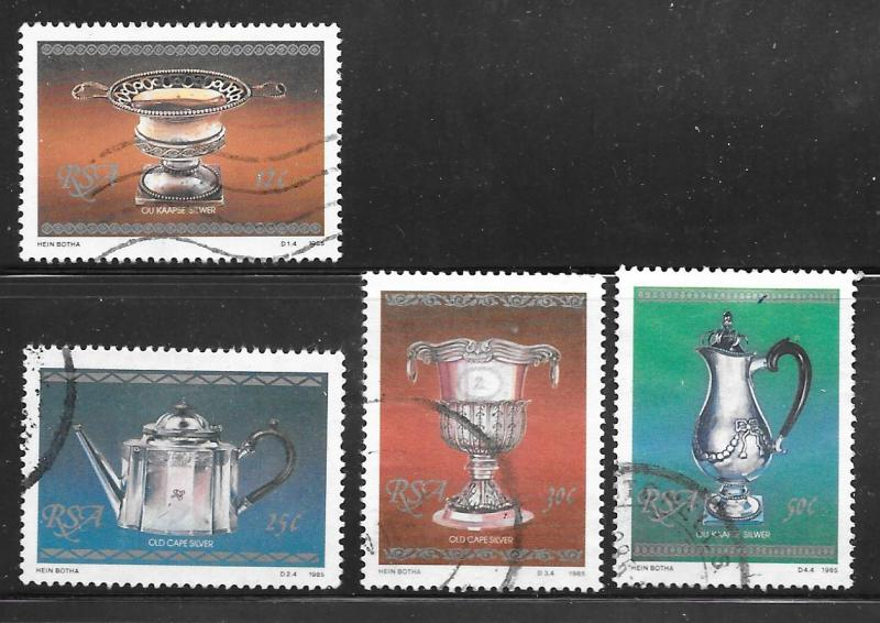 South Africa 660-663: Silverware, used, VF
