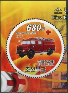 Korea 2008. Fire engine Mercedes-Benz-Metz LF16 (MNH OG) Stamp