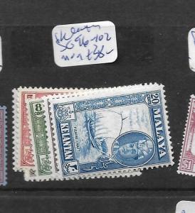 MALAYA KELANTAN  (P2303B) SULTAN   SG 96-102  MOG