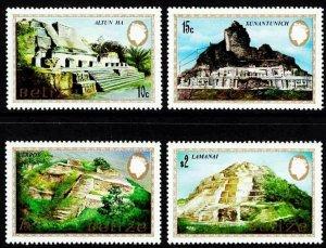 BELIZE - 1983 - QE II - MAYAN MONUMENTS - XUNANTUNICH - CERROS + MINT - MNH SET!