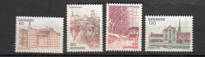 J26551  jlstamps 1976 denmark set mnh #586-9 views