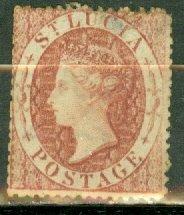 AA: St Lucia 1 unused no gum CV $110