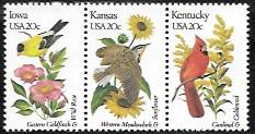 US #1967-69 Strip of 3 MNH State Birds and Flowers
