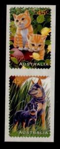 Australia 1564-5 pair MNH Cats, Dogs, Kittens, Puppies
