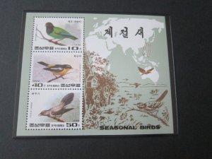 North Korea 1996 Sc 3555 Bird set MNH