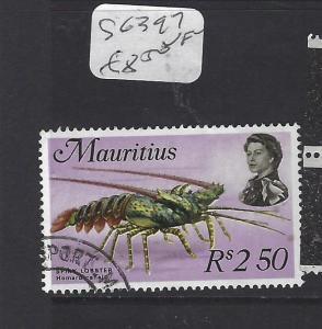 MAURITIUS   (PP0710B)   QEII  LOBSTER  SG 397   VFU