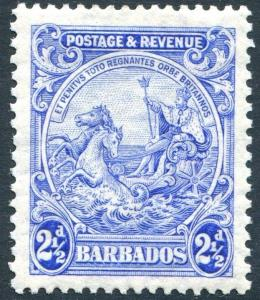 BARBADOS-1932 2½d Bright Ultramarine Perf 13½ x 12½ Sg 232ab LIGHTLY MOUNTED/M