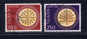 Iceland 550-51 Used 1981 set