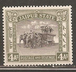 India - Jaipur  SC 30  Mint Lightly Hinged.