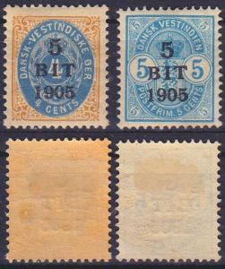 DÄNISCH DANSK WESTINDIEN [1905] MiNr 0038 ex ( */mh ) [01]