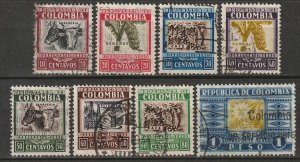 Colombia 1932 Sc C97//107 air post partial set used