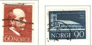 Norway Sc 508-9 1967 Santal Mission stamps used