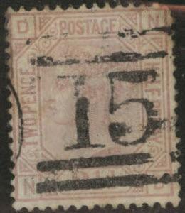 Great Britain Scott 67, 1875 Victoria 2.5p Plate 12 CV$52
