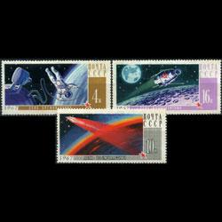 RUSSIA 1967 - Scott# 3316-8 Space Day Set of 3 NH