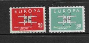 TURKEY - EUROPA 1963 - SCOTT 1602 TO 1603 - MNH