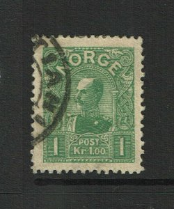 Norway SC# 64, Used, Hinge Remnant, possible very shallow center thin - S9381