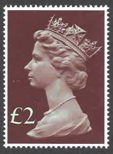 Doyle's_Stamps: MNH XF-S 1977 British 2-Pounds QEII Jumbo Machin Scott #MH175**
