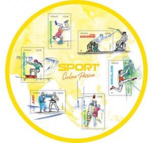2021 France Sports MS6 (Scott NA) MNH