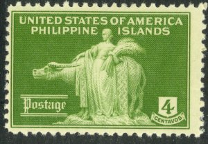 US PHILIPPINES 1935 4c Woman and Carabao Pictorial Issue Sc 384 MLH