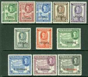 EDW1949SELL : SOMALILAND 1951 Scott #116-26 Complete. VF, Mint OG LH. Cat $54.00