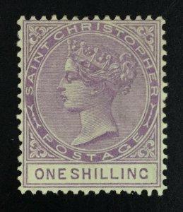 MOMEN: ST CHRISTOPHER SG #20 1886 MINT OG H £100 LOT #62030