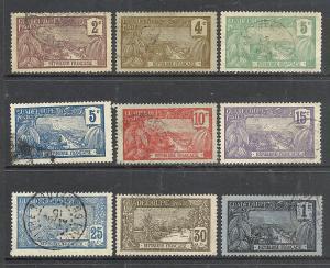 Guadeloupe #55-8, 61-2, 65, 69, 79 used cv $4.85