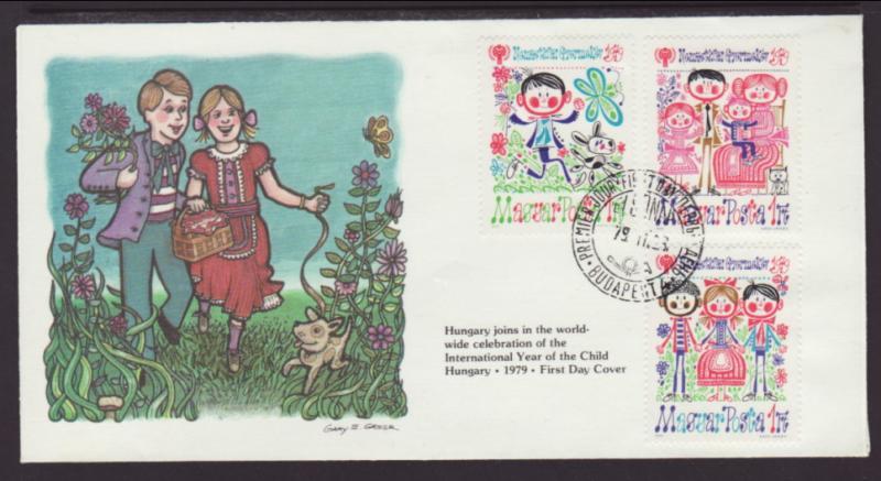 Hungary 2566 IYC 1979 Fleetwood U/A FDC