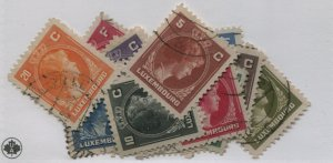 LUXEMBOURG  218-34   USED  SHORT 221 234