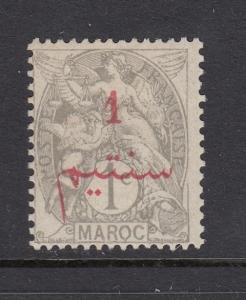 French Morocco 1911 1c on 1c