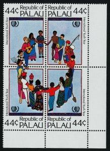 Palau 89a BR Block MNH International Youth Year, Music