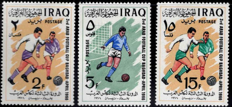 IRAQ Scott 403-405 MH* Soccer set