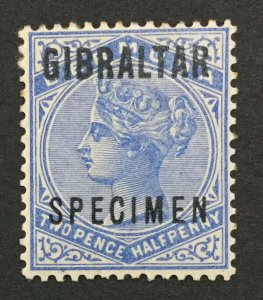 MOMEN: GIBRALTAR SG #4as SPECIMEN 1886 MINT OG H LOT #191839-372
