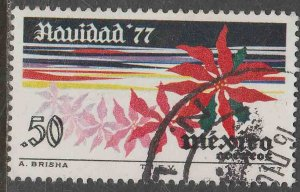 MEXICO 1159, First Christmas stamp, Poinsettia USED. F-VF. (670)