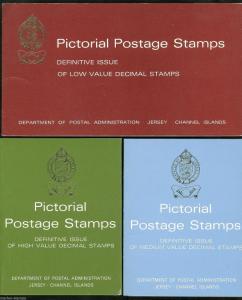 JERSEY DEFINITIVE DECIMAL SERIES 3  PRESENTATION PACKS CONSISTING OF 16 STAMPS