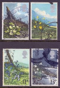 GB Scott 855/858 - SG11079/1082, 1979 Wild Flowers Set used
