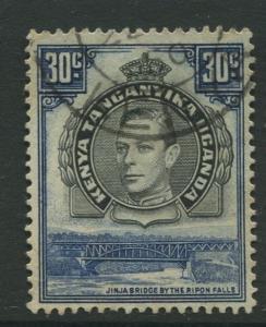 Kenya & Uganda - Scott 76 - KGVI Definitive -1942 - Used - Single 30c Stamp